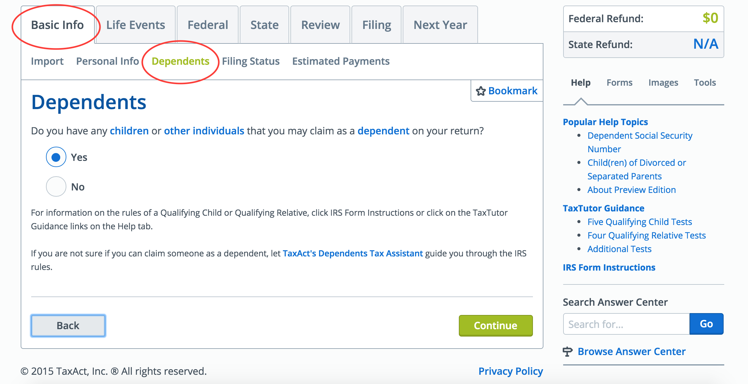 Taxact Instructions Earned Income Tax Credit